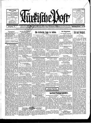 Türkische Post vom 01.01.1930