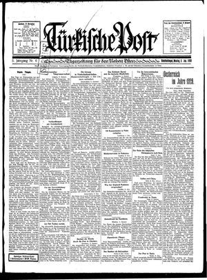 Türkische Post vom 06.01.1930