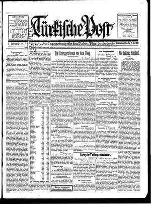 Türkische Post vom 07.01.1930