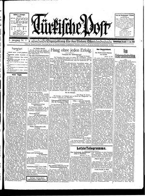Türkische Post vom 11.01.1930