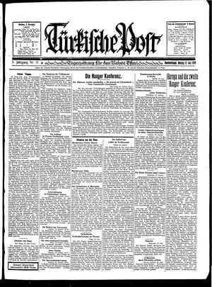 Türkische Post vom 13.01.1930