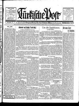 Türkische Post vom 14.01.1930