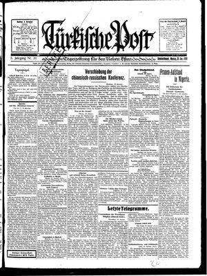 Türkische Post vom 20.01.1930