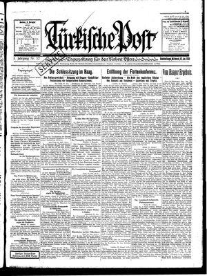 Türkische Post vom 22.01.1930