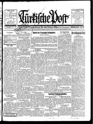 Türkische Post vom 01.02.1930