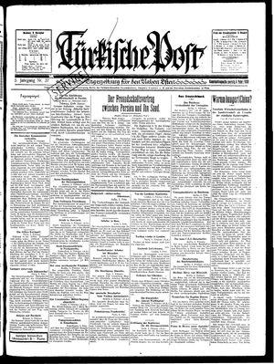 Türkische Post vom 06.02.1930