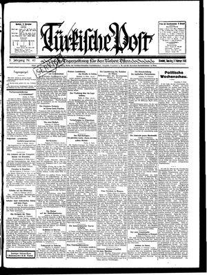 Türkische Post vom 09.02.1930