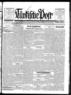 Türkische Post vom 10.02.1930