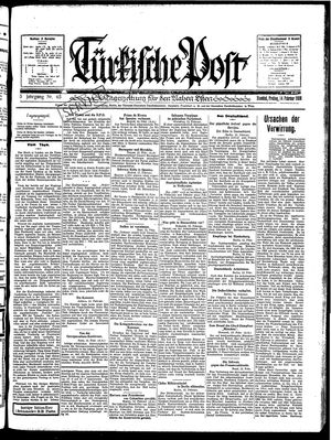 Türkische Post vom 14.02.1930