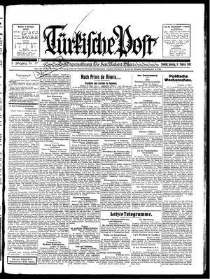 Türkische Post on Feb 16, 1930