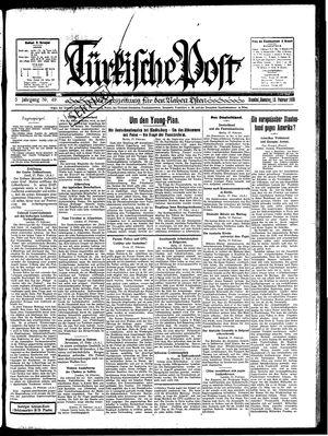 Türkische Post vom 18.02.1930