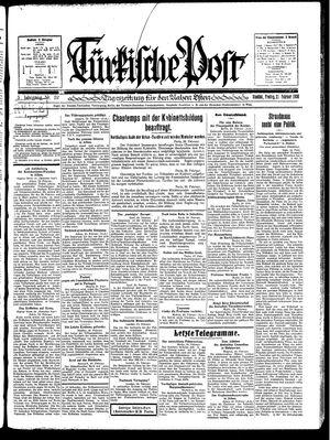 Türkische Post vom 21.02.1930
