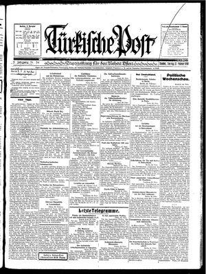 Türkische Post vom 23.02.1930