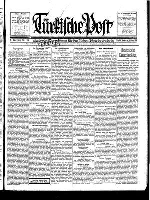 Türkische Post vom 06.03.1930