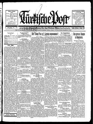 Türkische Post vom 12.03.1930