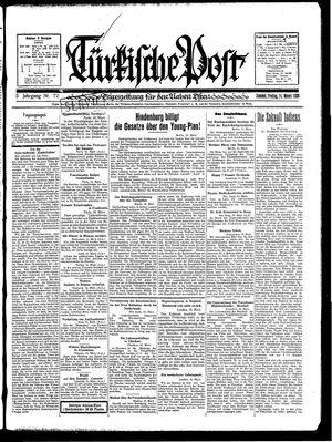Türkische Post vom 14.03.1930