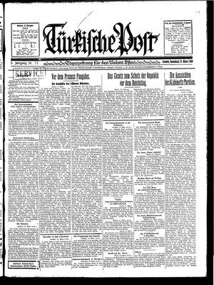 Türkische Post vom 15.03.1930