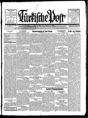 Türkische Post vom 21.03.1930