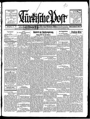 Türkische Post vom 29.03.1930