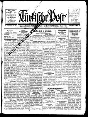 Türkische Post vom 31.03.1930
