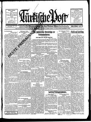 Türkische Post vom 02.04.1930