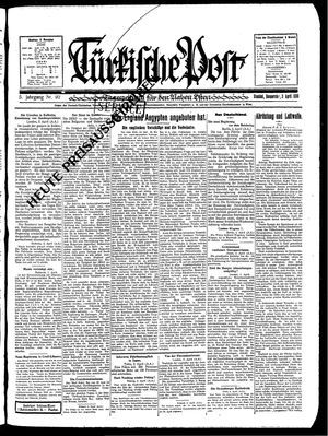 Türkische Post vom 03.04.1930