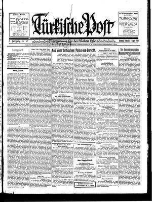Türkische Post vom 08.04.1930