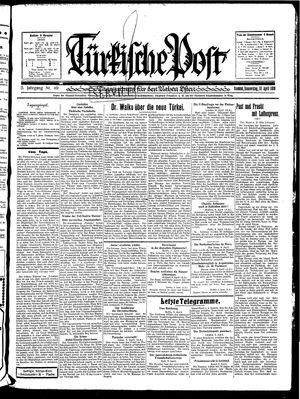Türkische Post vom 10.04.1930