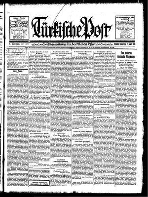 Türkische Post vom 17.04.1930