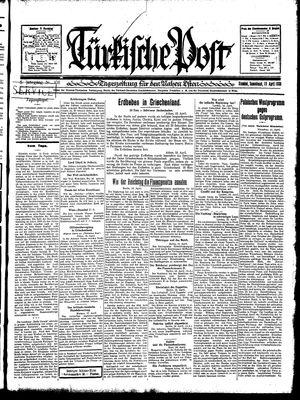 Türkische Post vom 19.04.1930