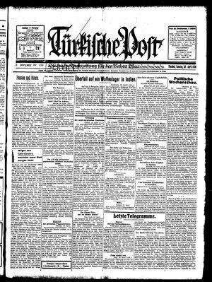 Türkische Post vom 20.04.1930