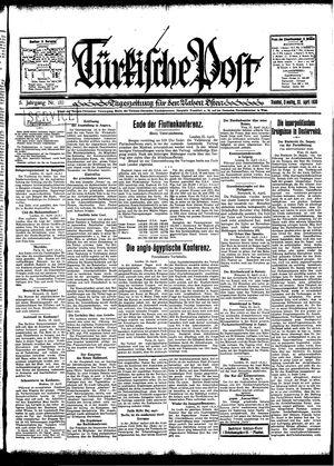 Türkische Post vom 22.04.1930
