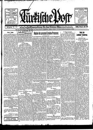 Türkische Post vom 25.04.1930