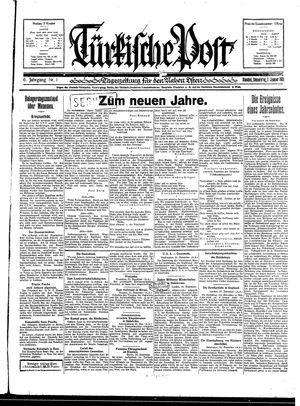 Türkische Post vom 01.01.1931