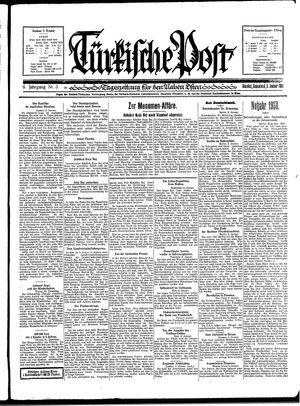 Türkische Post vom 03.01.1931