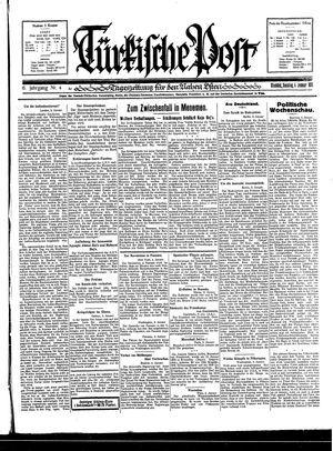 Türkische Post vom 04.01.1931