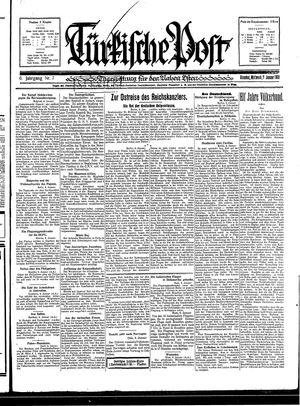 Türkische Post vom 07.01.1931