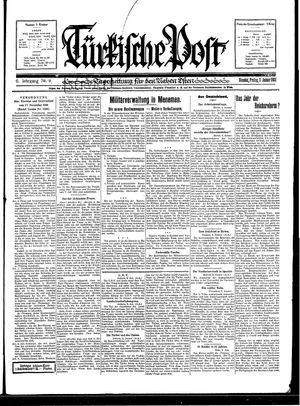 Türkische Post vom 09.01.1931