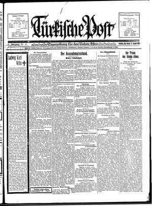 Türkische Post vom 10.01.1931