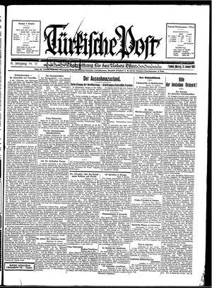 Türkische Post vom 12.01.1931