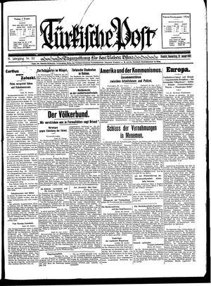 Türkische Post vom 22.01.1931