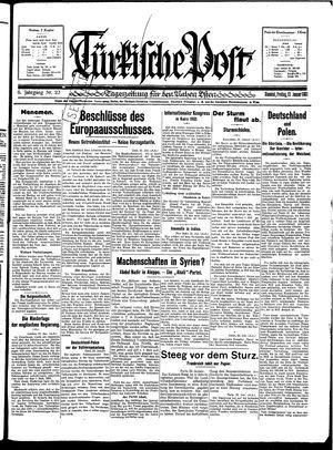 Türkische Post vom 23.01.1931