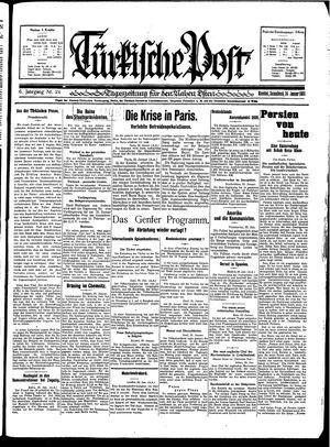 Türkische Post vom 24.01.1931