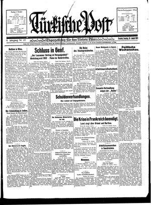 Türkische Post on Jan 25, 1931