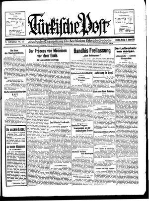 Türkische Post vom 26.01.1931