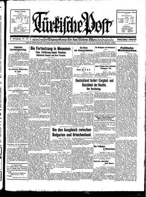 Türkische Post vom 08.02.1931