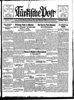 Türkische Post vom 09.02.1931