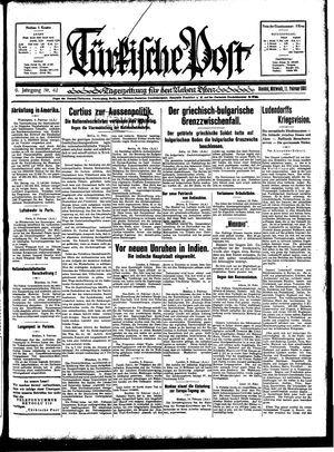 Türkische Post vom 11.02.1931