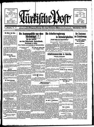 Türkische Post vom 12.02.1931
