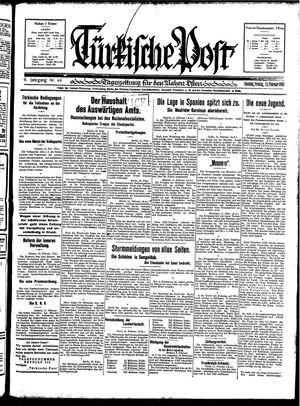 Türkische Post vom 13.02.1931